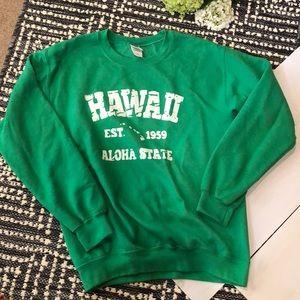 green hawaii crewneck